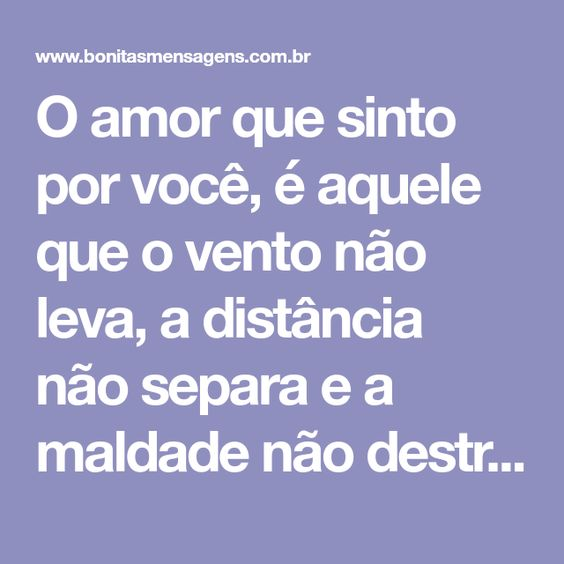 Frases De Amor A Distancia Frases Bonitas De Amor Veja Aqui